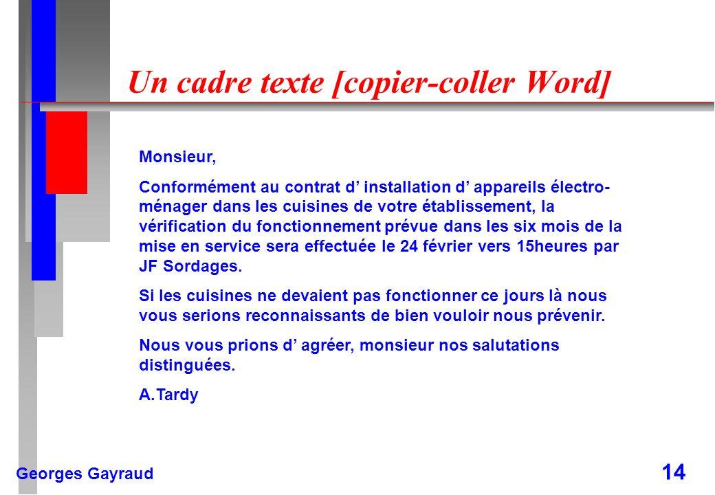 Un cadre texte [copier-coller Word]